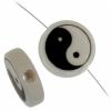 Bead Discs 19mm Yingyang Black/white